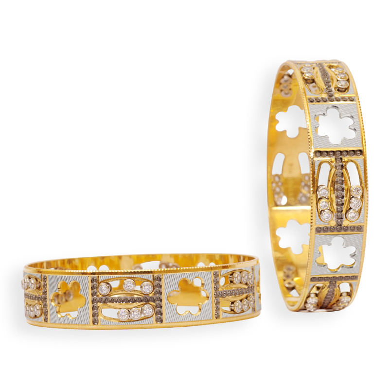Made With Passion Zircon Studded Single Bangle