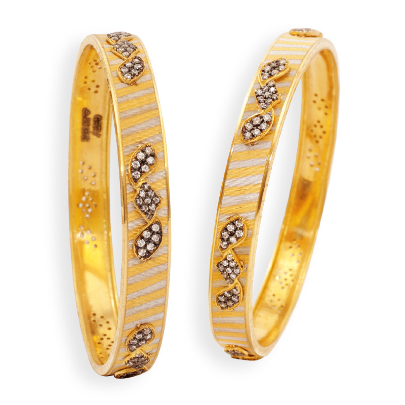 Contemporary Style Designer Gold Bangles