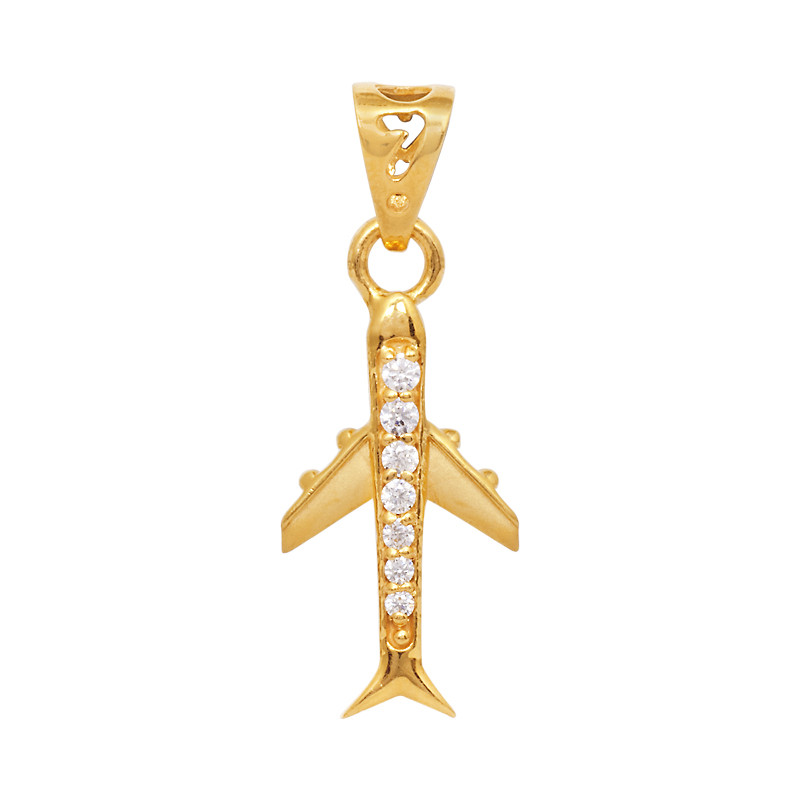 Pendants 22 Kt Airplane Gold Pendant Grt Jewellers