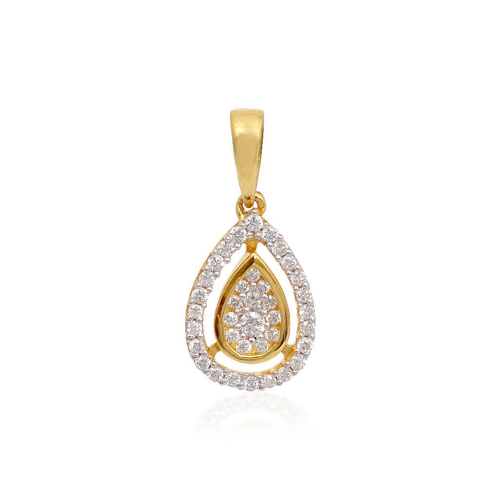 Pear Shape Delicate Diamond Pendant
