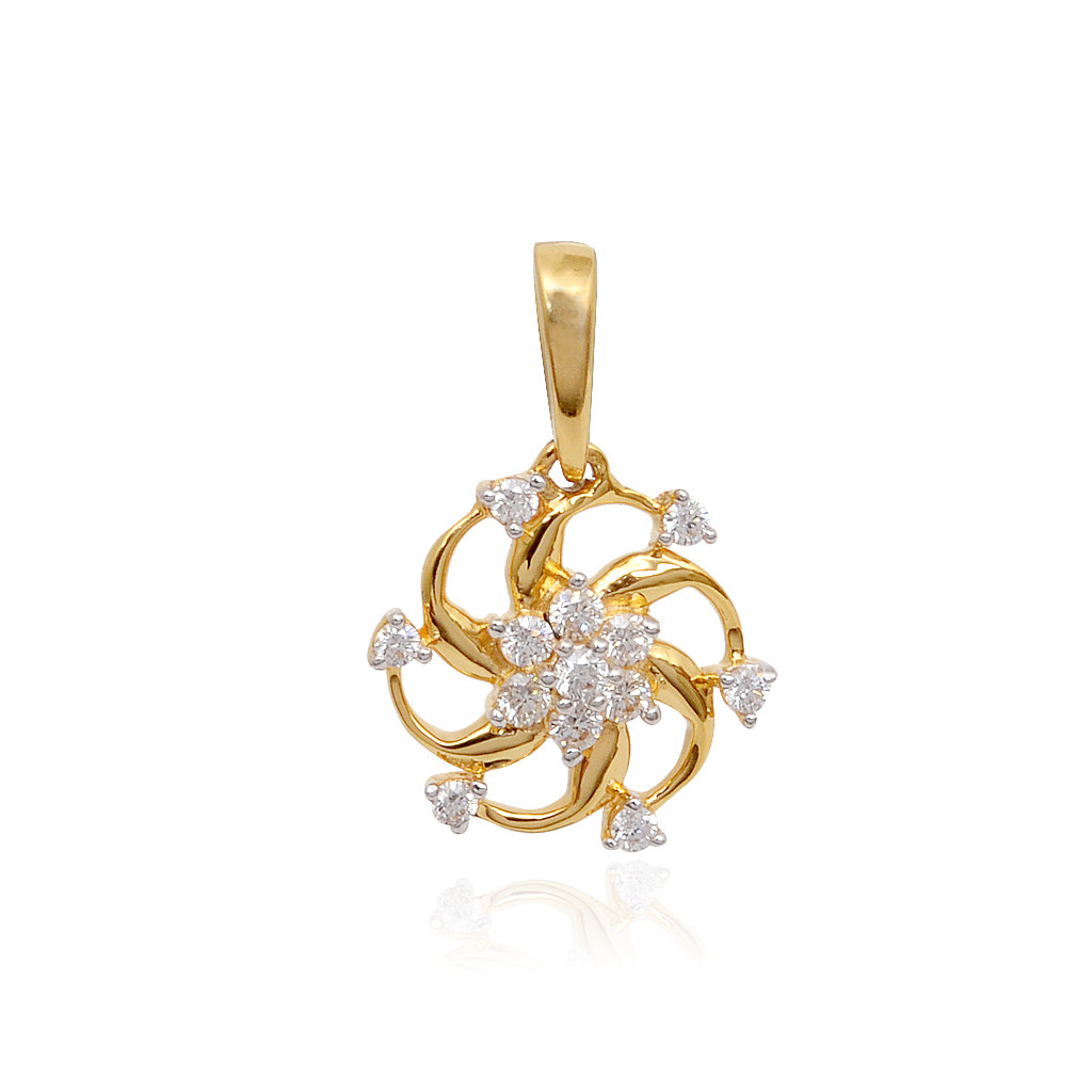 Classic Wheel Diamond Pressure Setting Pendant