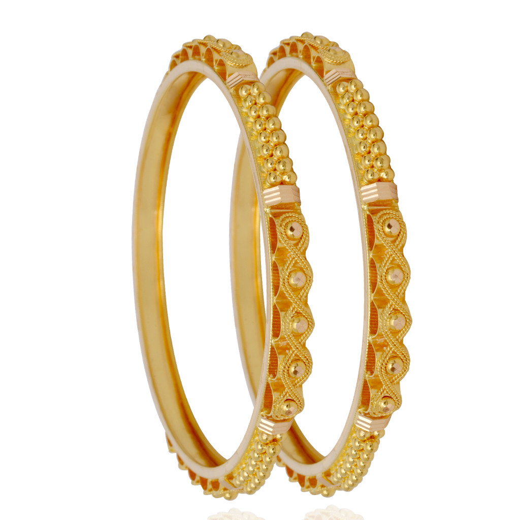 Style Infinity Design Gold Bangles