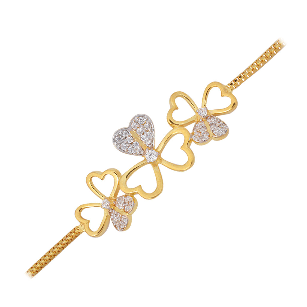 The Floral Heart Gold Bracelet