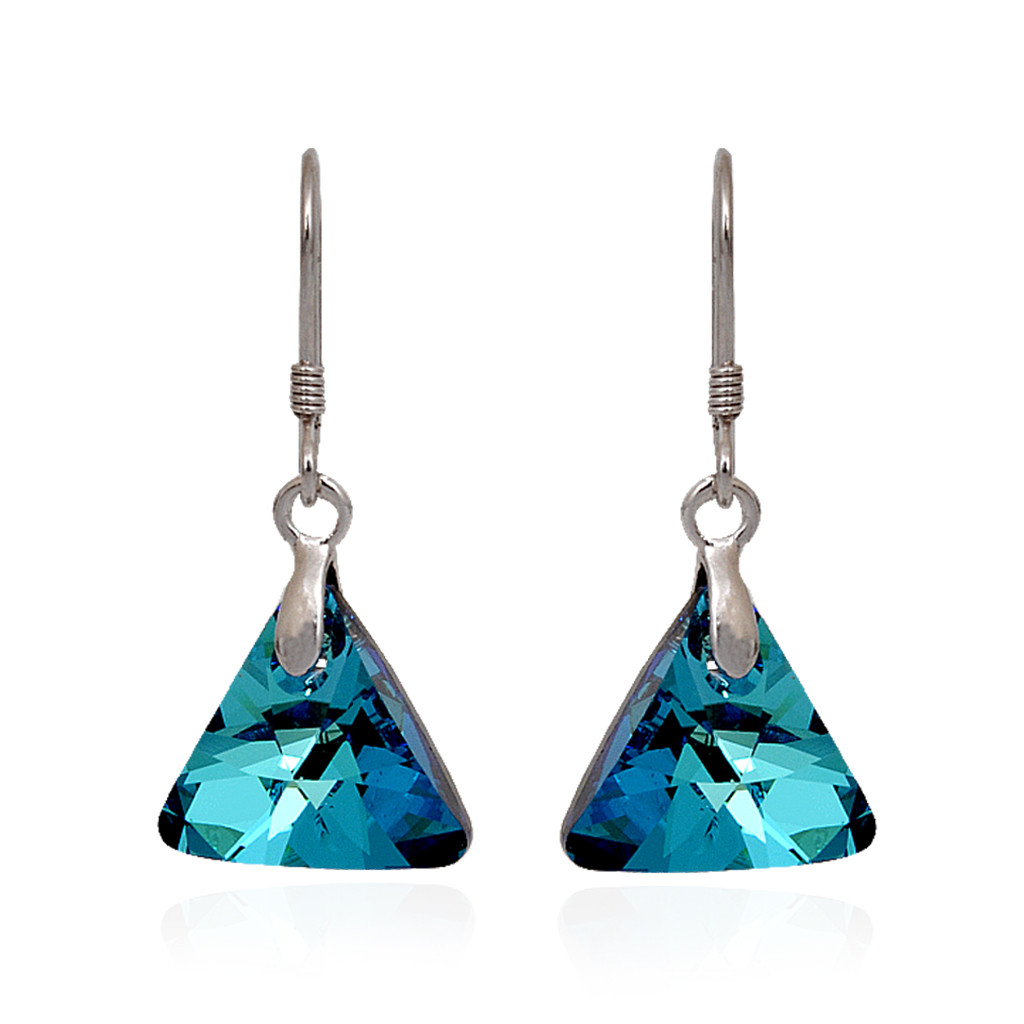 Blossom Blue Triangle Pendant Set