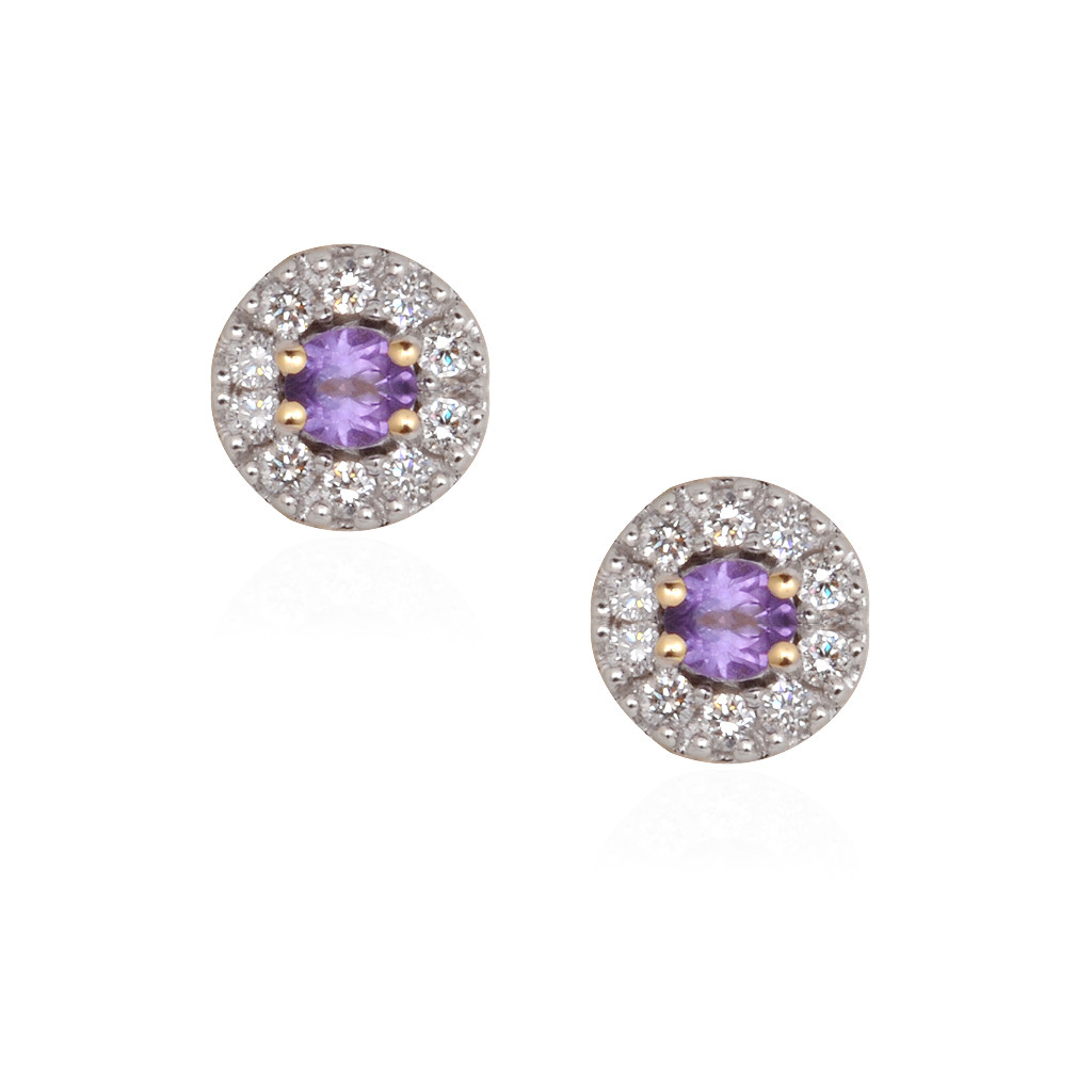 Elegant Round Diamond Stones Circle Earrings