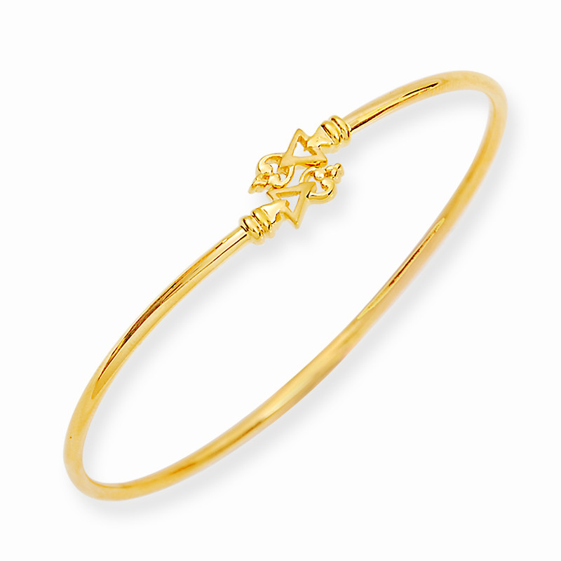 Stylus Casting Arrow Charm Twister Gold Bracelet