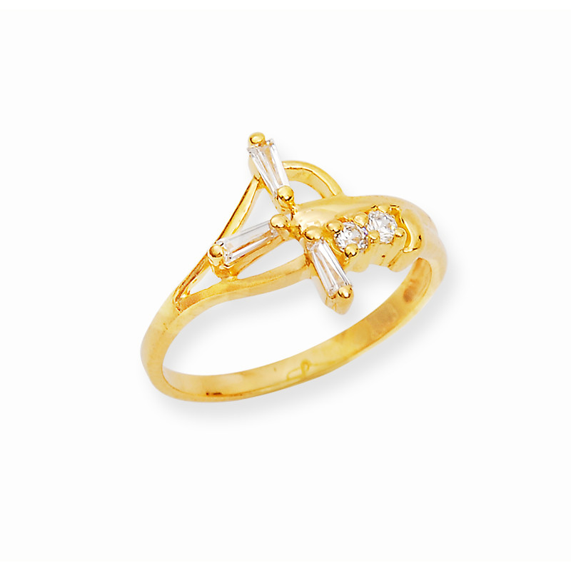 Baguette Stone Yellow Gold Band