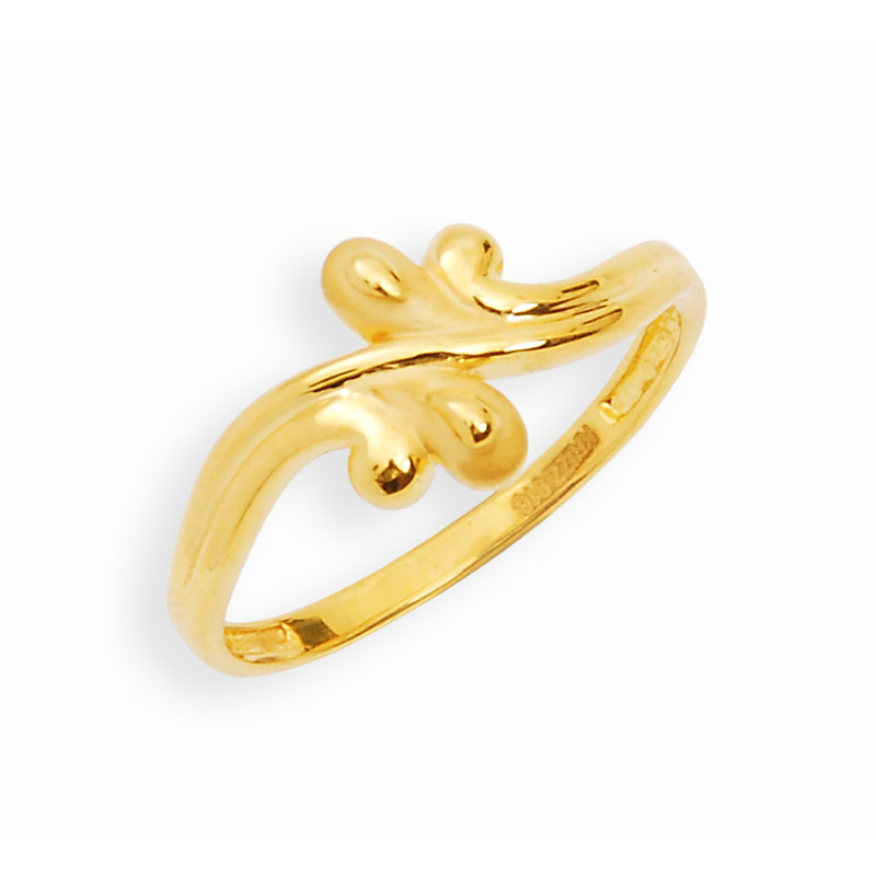 rings gold leaf design ring grt jewellers