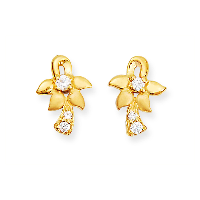 Casting Flower Gold Earring