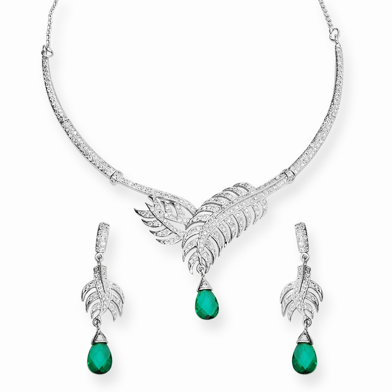 Artisan Crafted Leaf Design Necklace Set
