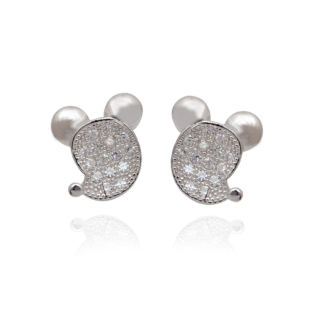 925 Mickey Mice Silver Earrings