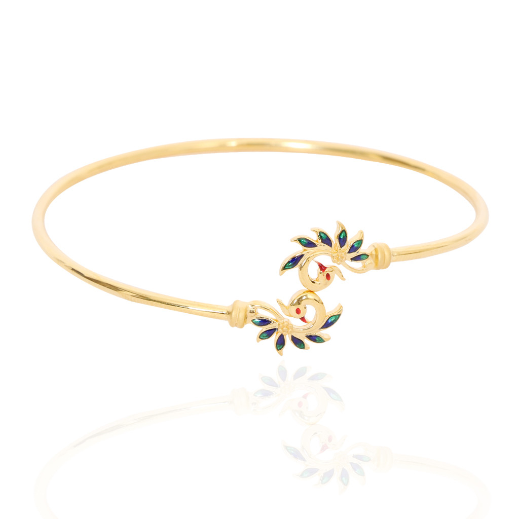 Twin Mayur Gold Bracelet