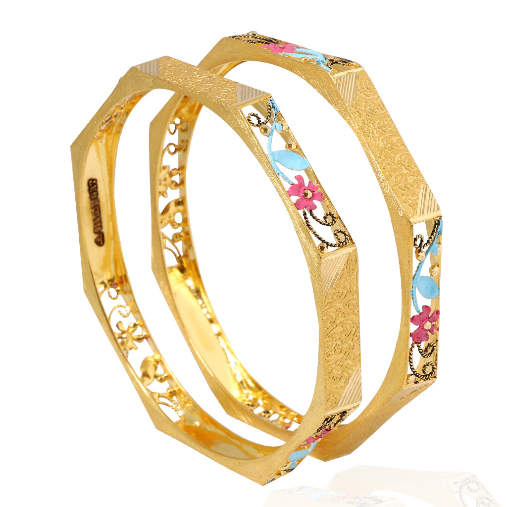 Fancy Hand Painted Bangles