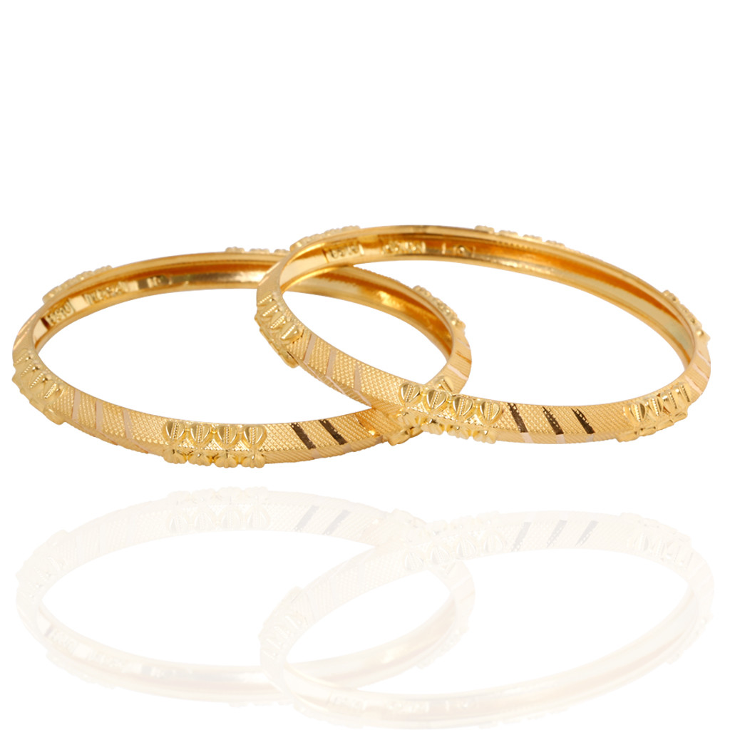 The Alhyna Doris Gold Bangles