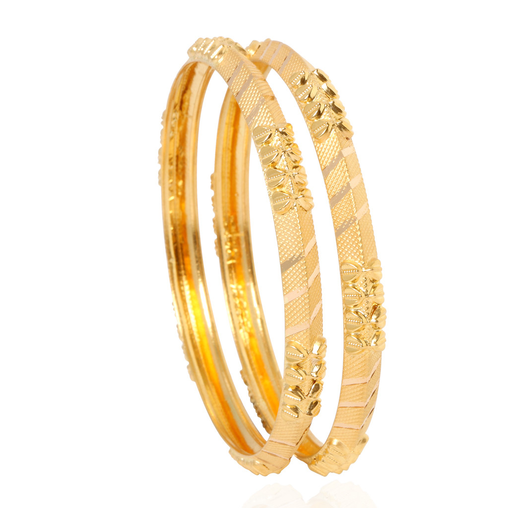 Bangles | The Alhyna Doris Gold Bangles | GRT Jewellers
