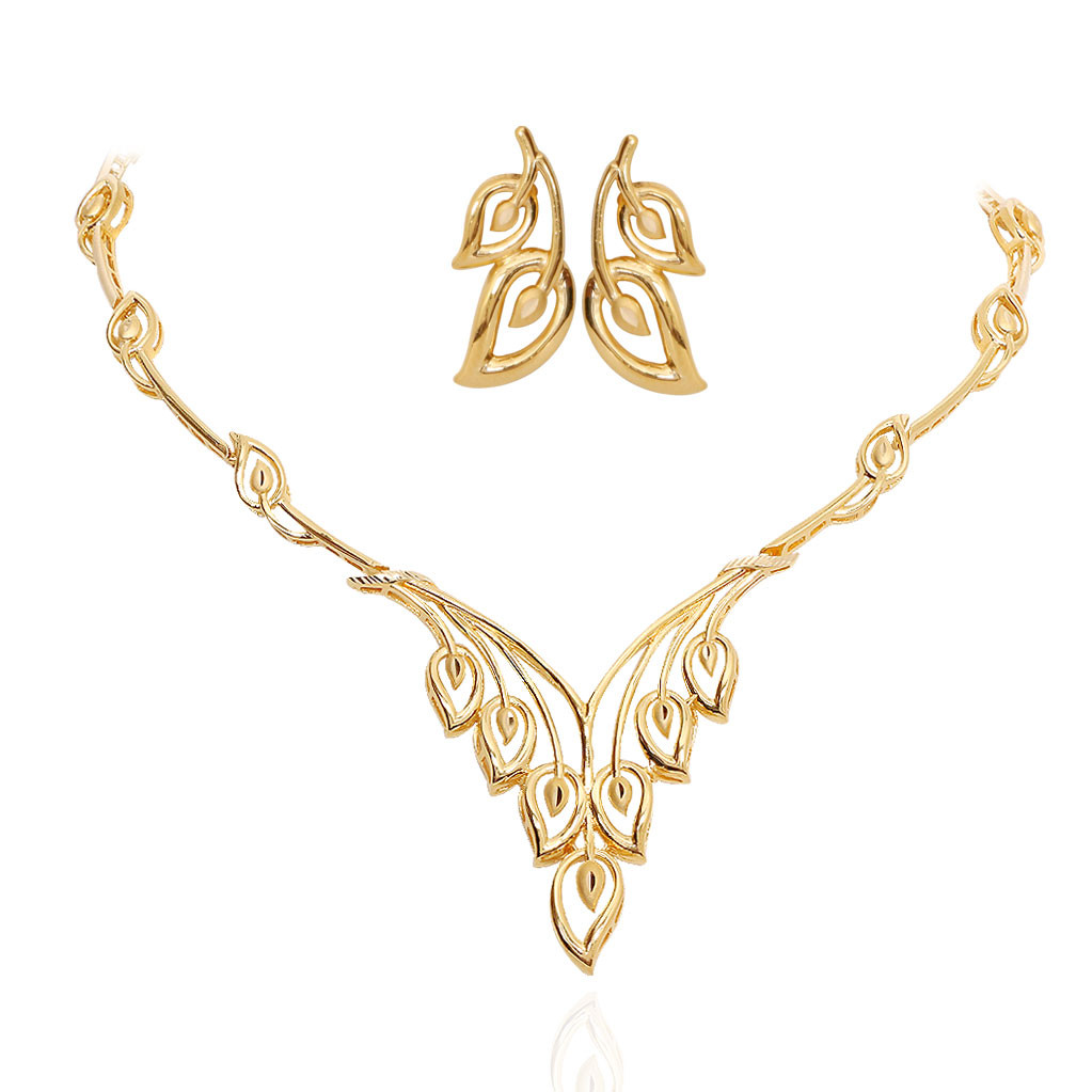 Oriana The Light Weight Jewellery The Leaf Drops Gold
