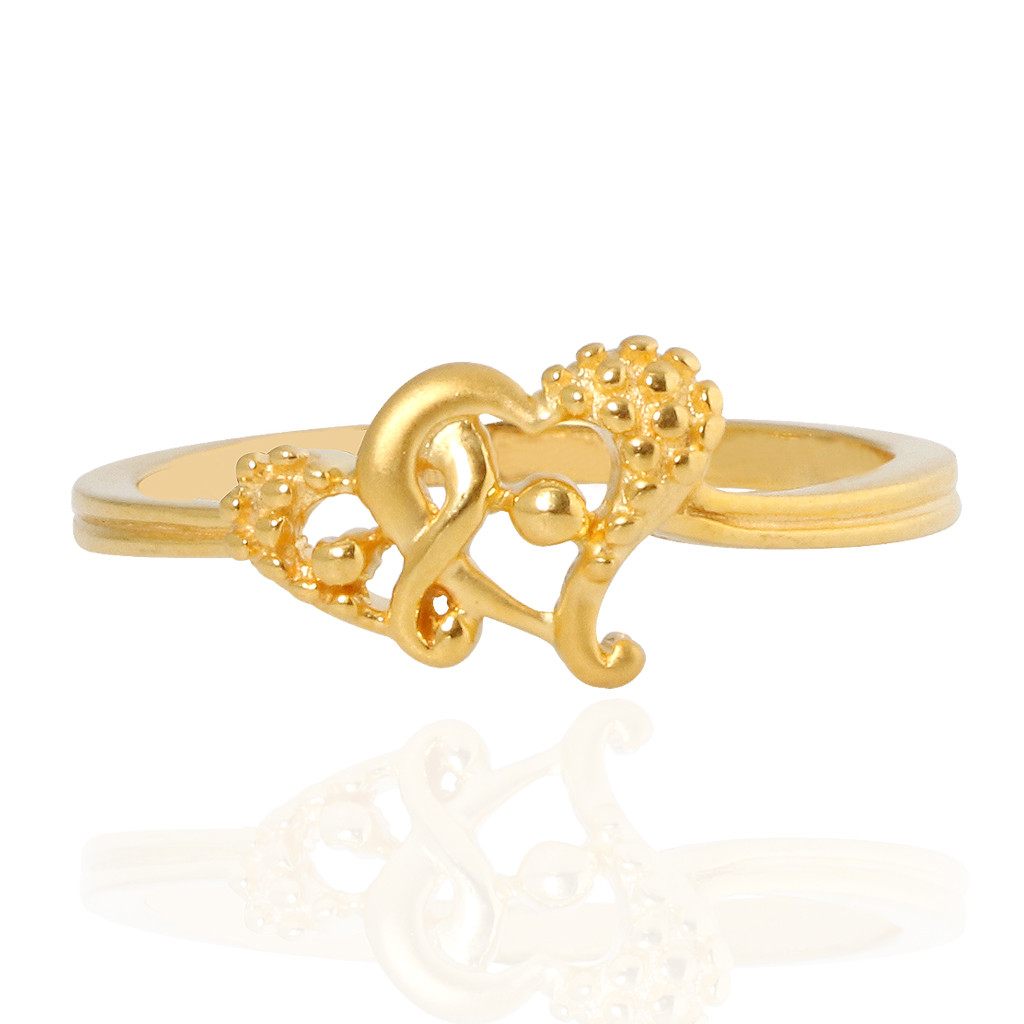 The Victoria Heart Of Love Gold Ring