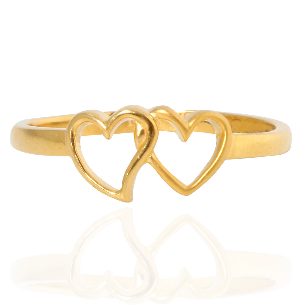 The Holy Hearts Gold Ring