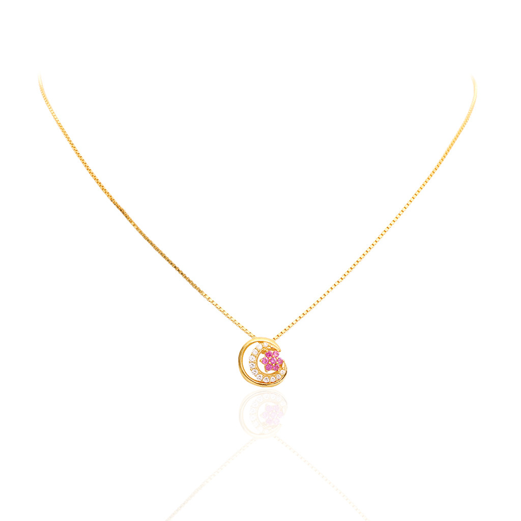 Floral Chand Gold Chain