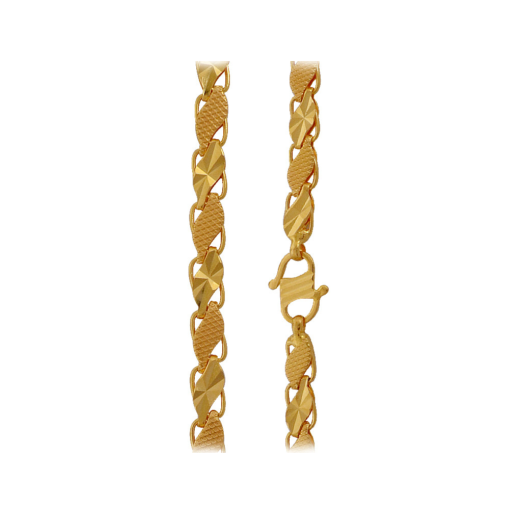 Elegant Men's 22KT Link Gold Chain