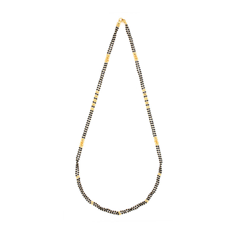Two Strand Black Beads Chain