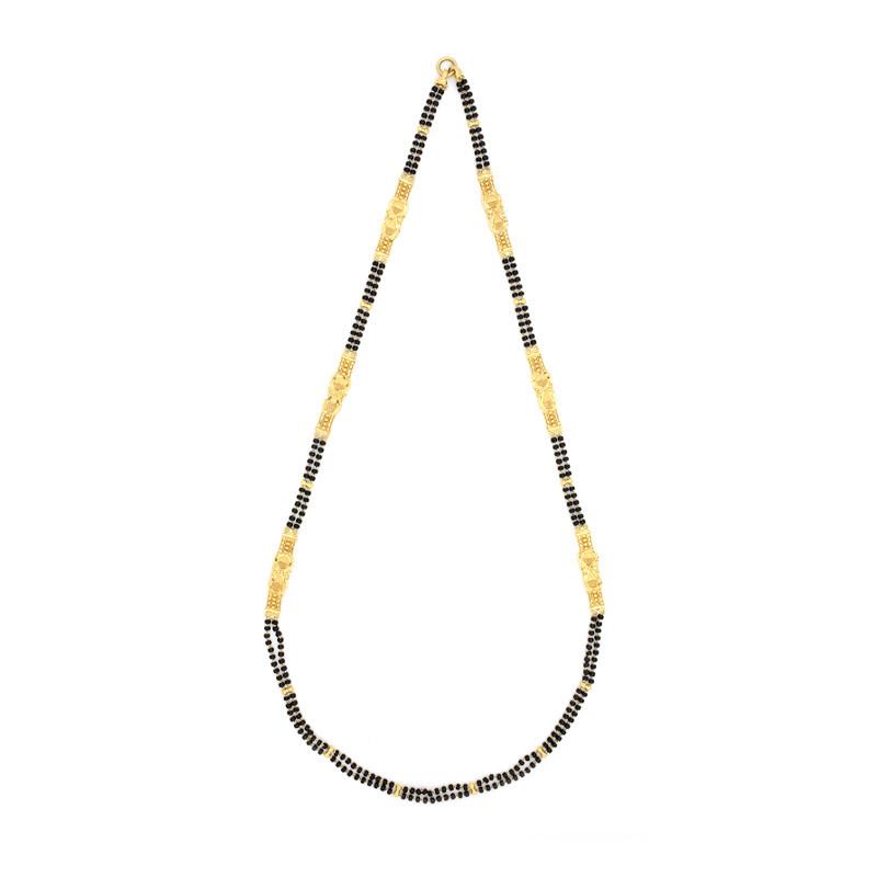 Black Beads Mugappu Chain