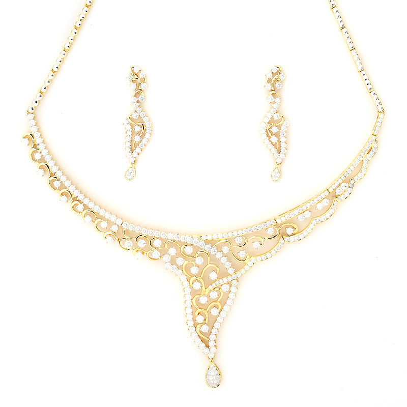 Designer Diamond Necklace set