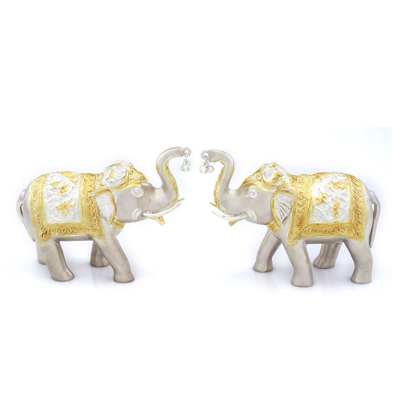 Gold Polished Holy Elephant