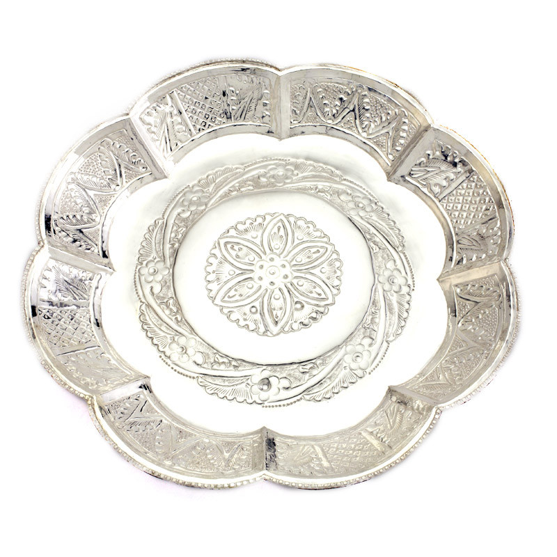 Traditional Nagas Work Silver Thamboolam Plate