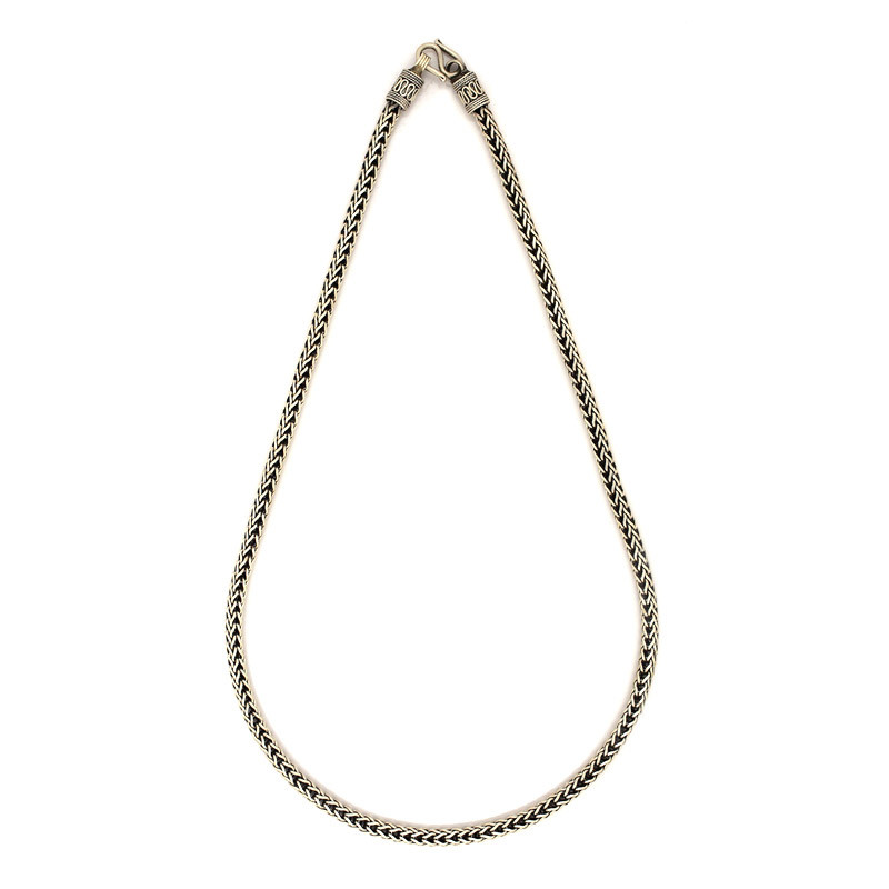 Oxide Silver Foxtail Chain