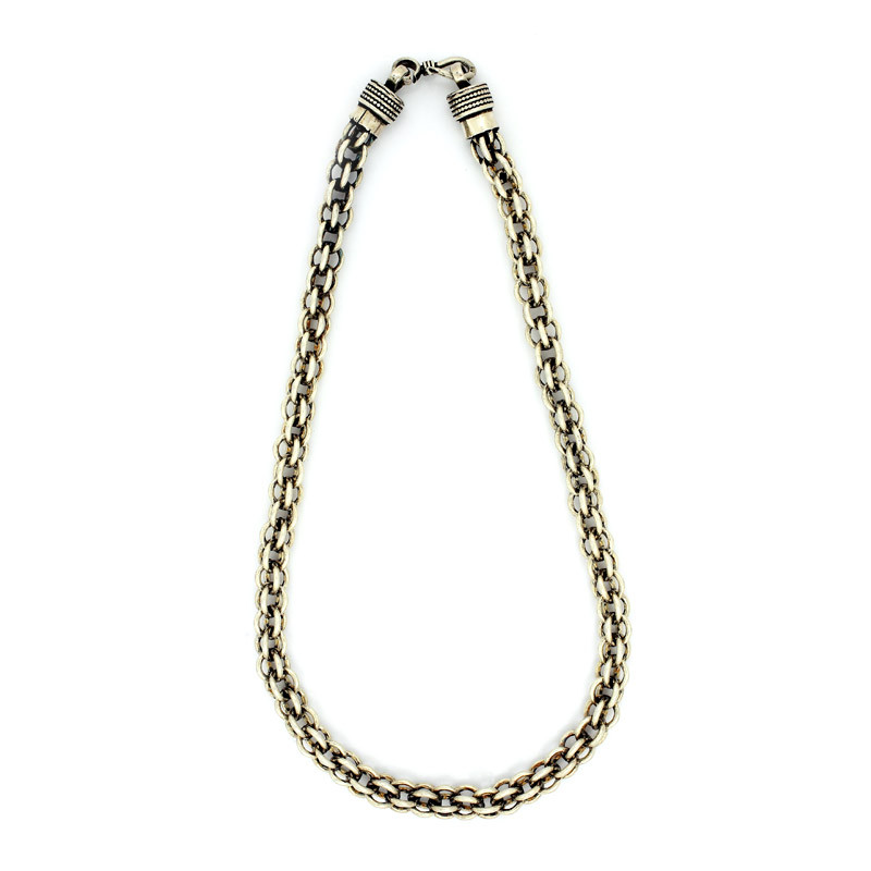 Antique Finish Silver Chain
