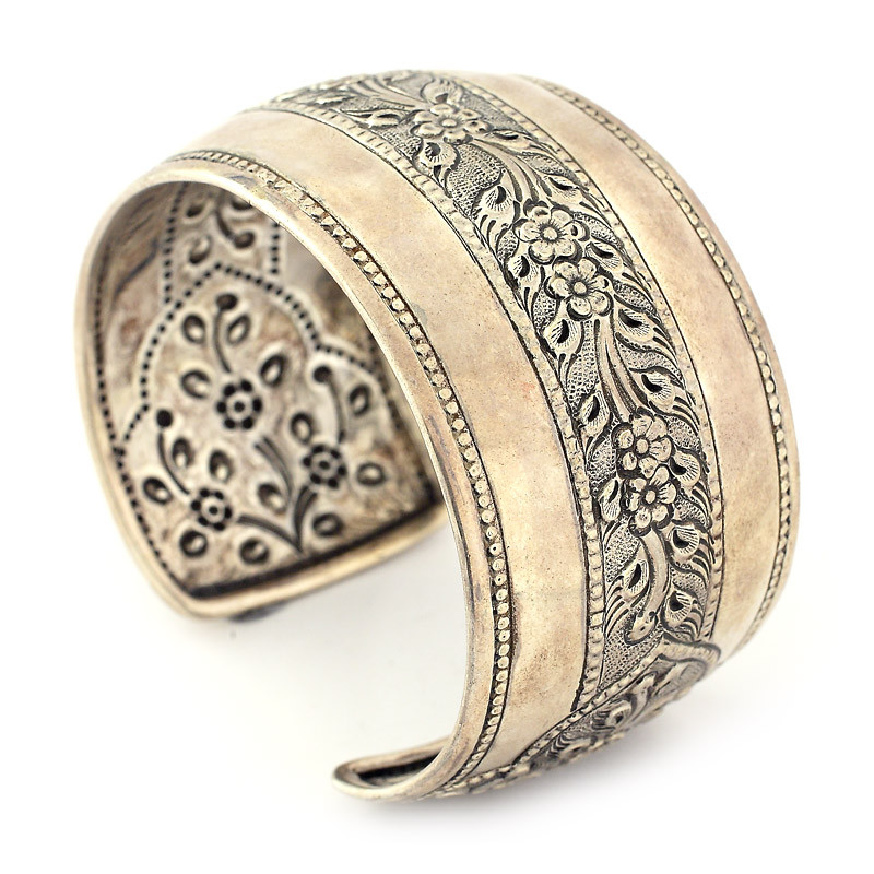 Antique Finish Silver Cuff Bracelet