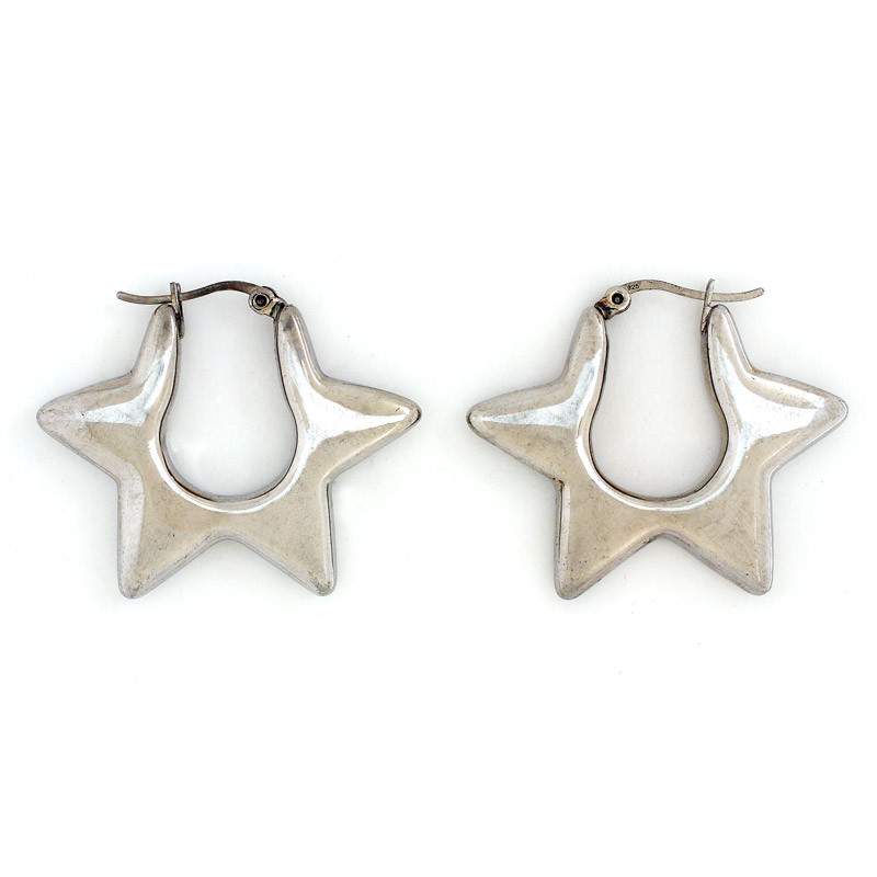 Dazzling Star Hoop Earrings