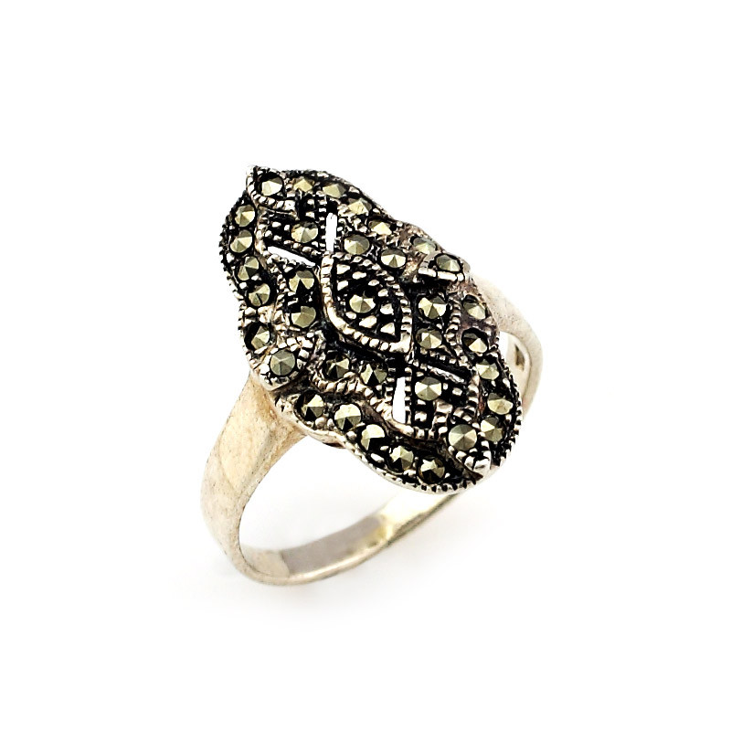 Victorian Style Silver Margaret Stone Ring