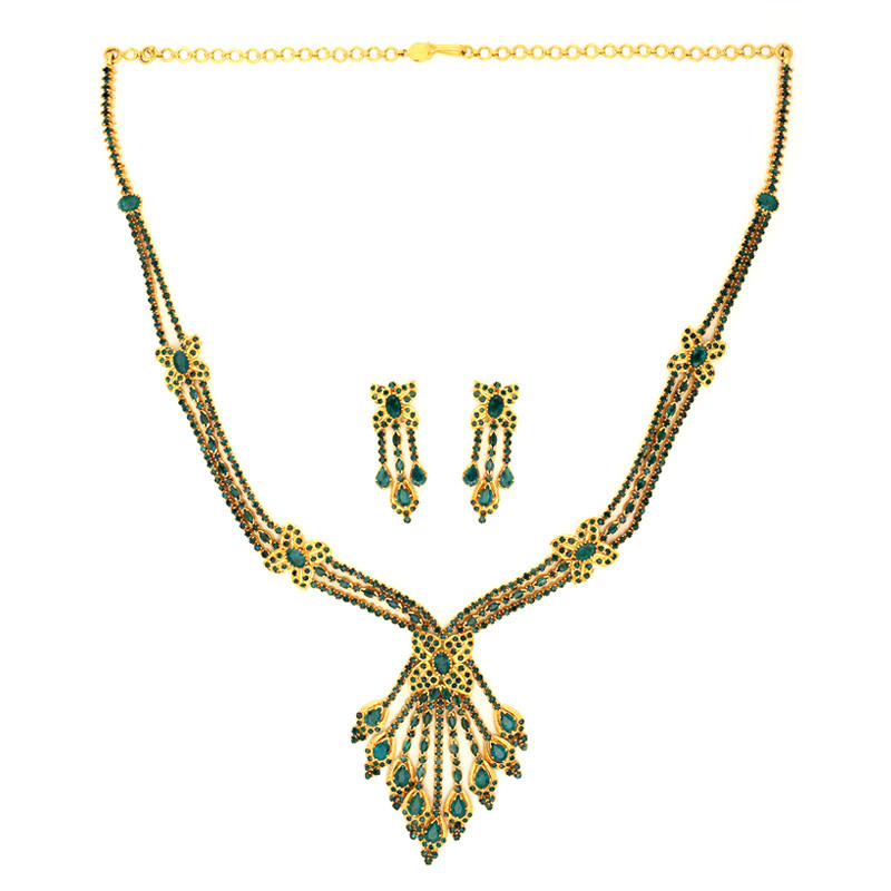 Royal Columbian Emerald Necklace Set