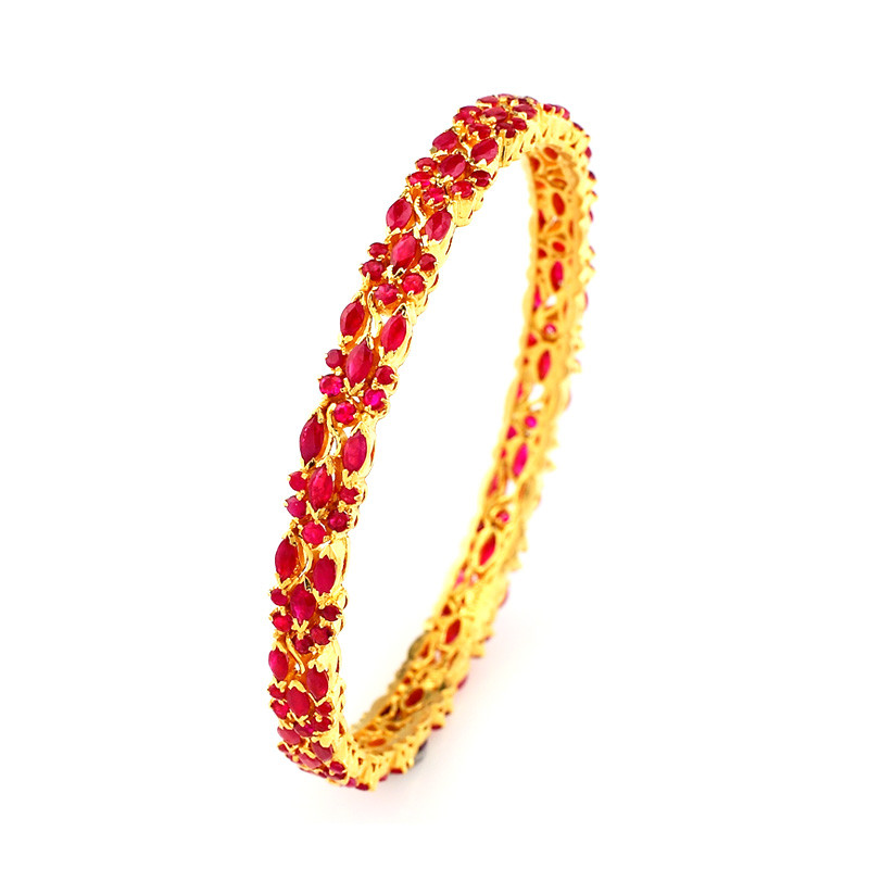 African Rubies Studded Bngles