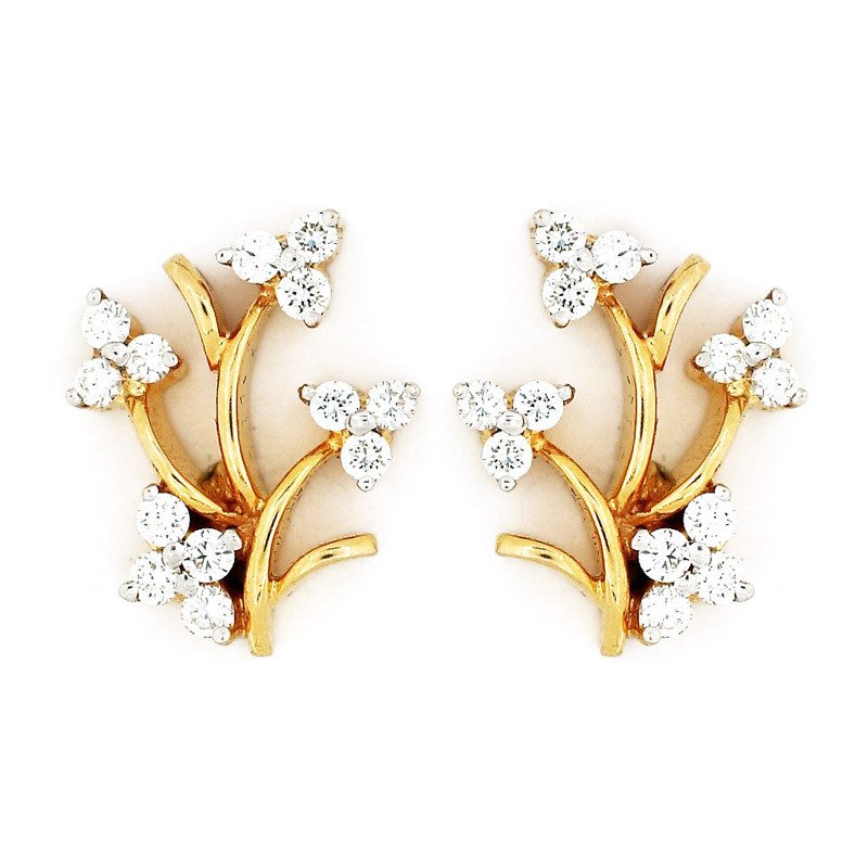 Spring Flowers Diamond Earrings