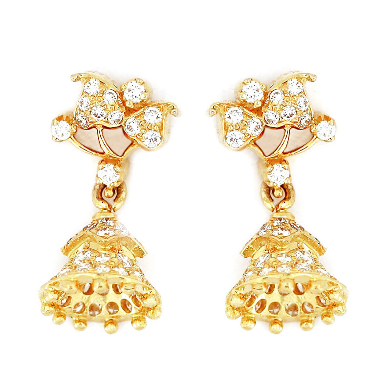 Jimiki Type Diamond Earrings