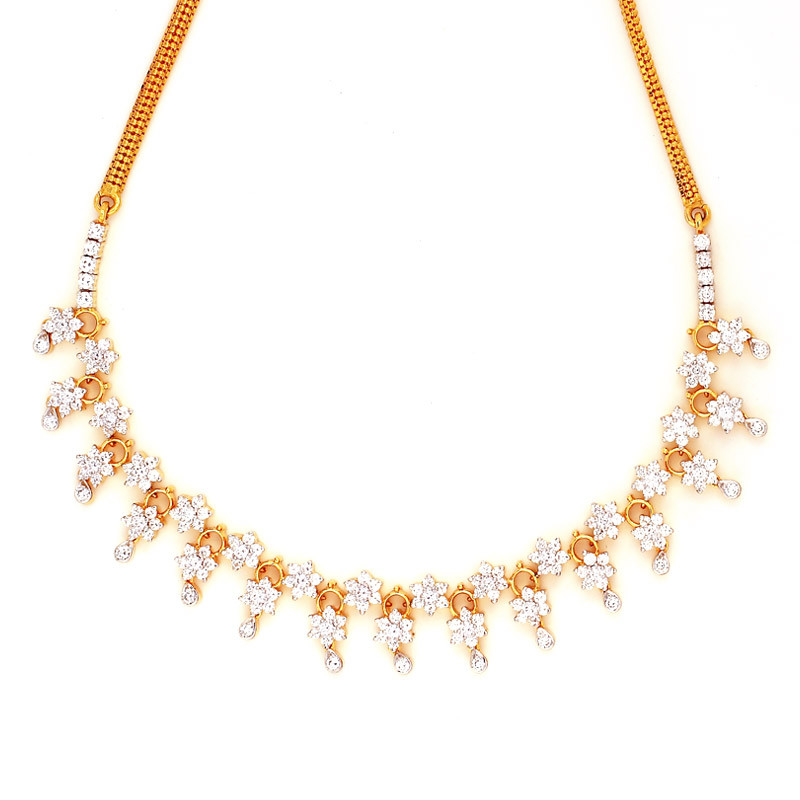 Traditional Seven Stone Bridal Diamond Necklace