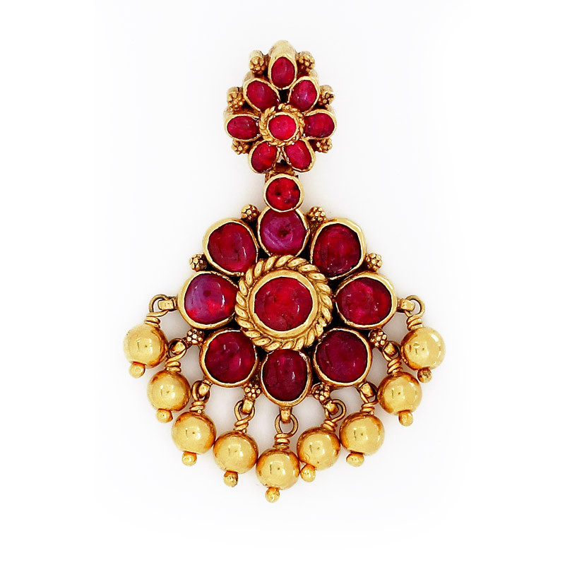 Traditional South Indian Ruby Padakam