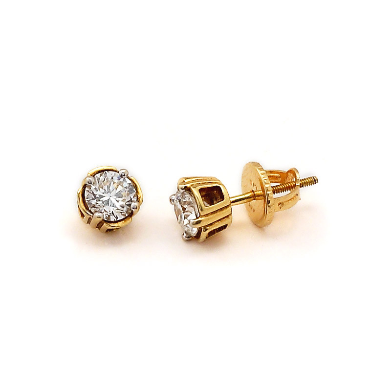 Classic Four Claw Diamond Earrings