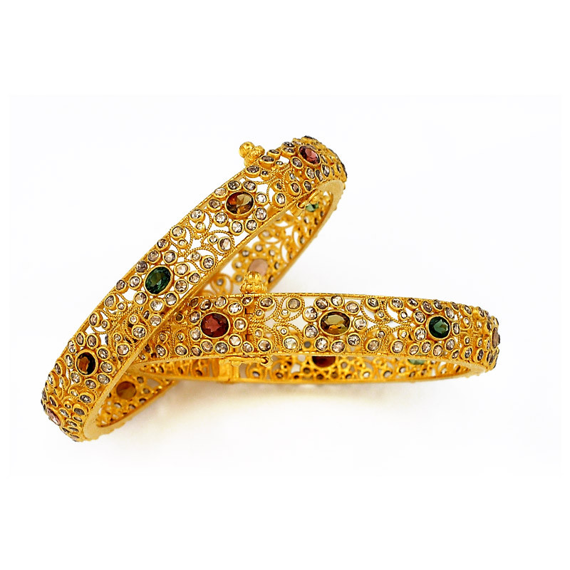 Nizam Collection - Uncut Diamond Bangles