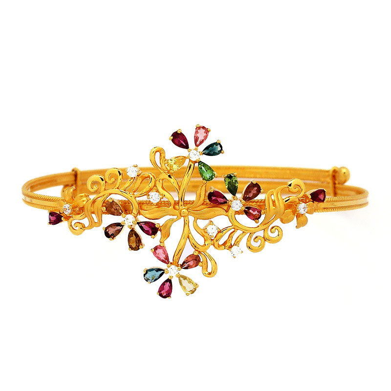 Natural Color gemstones Armlet - Bajuband
