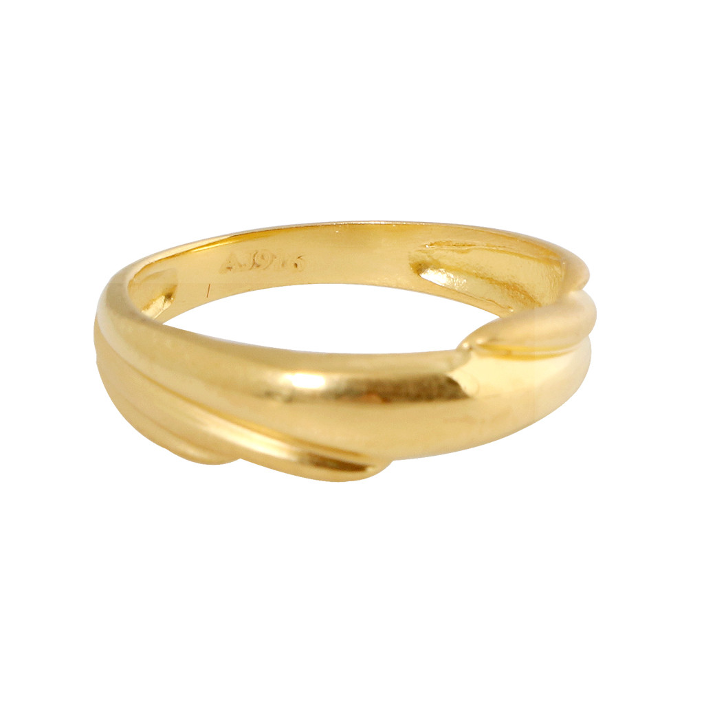 Amelia Twist Gold Band Ring