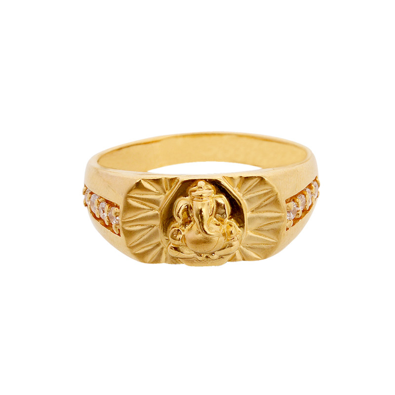 Lord Ganesha 22KT Gold Ring