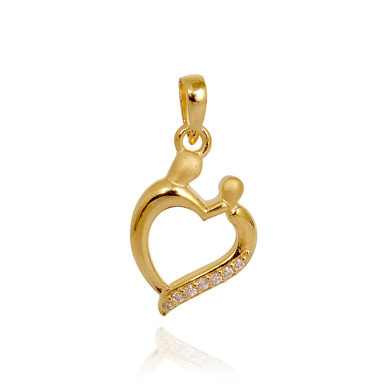 Mother Child Gold Pendant