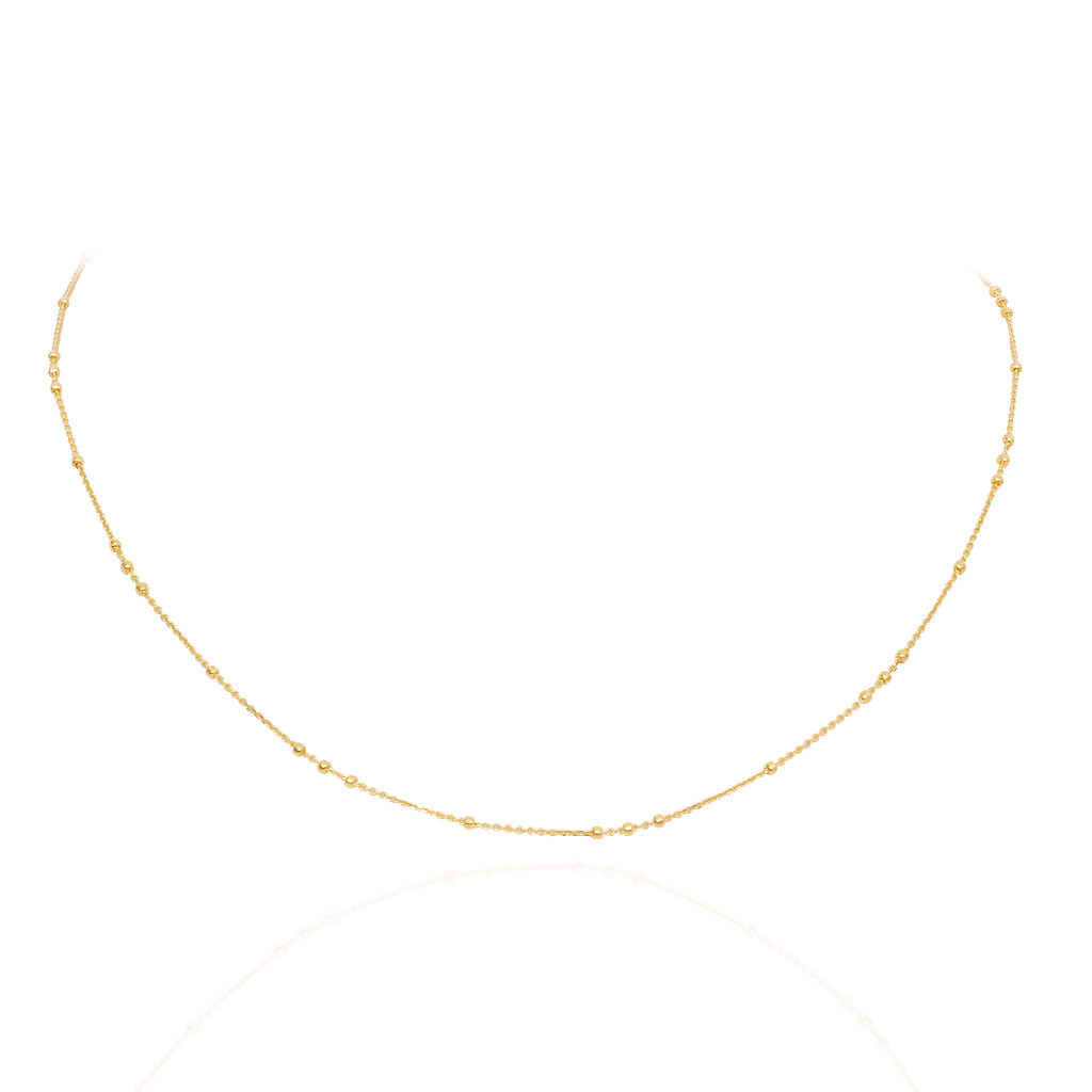 Trio Balls Slim Gold Chain