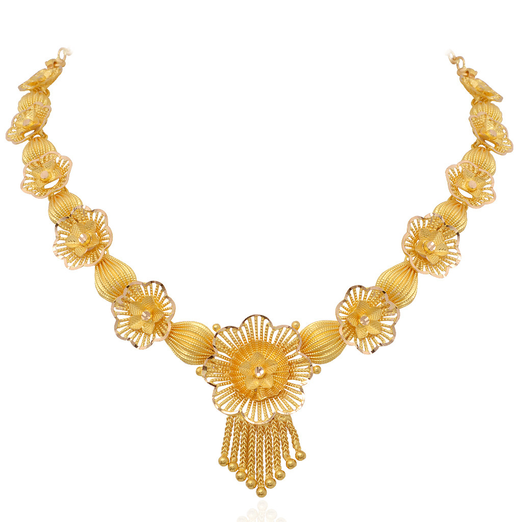 necklace the poppy flower gold necklace grt jewellers