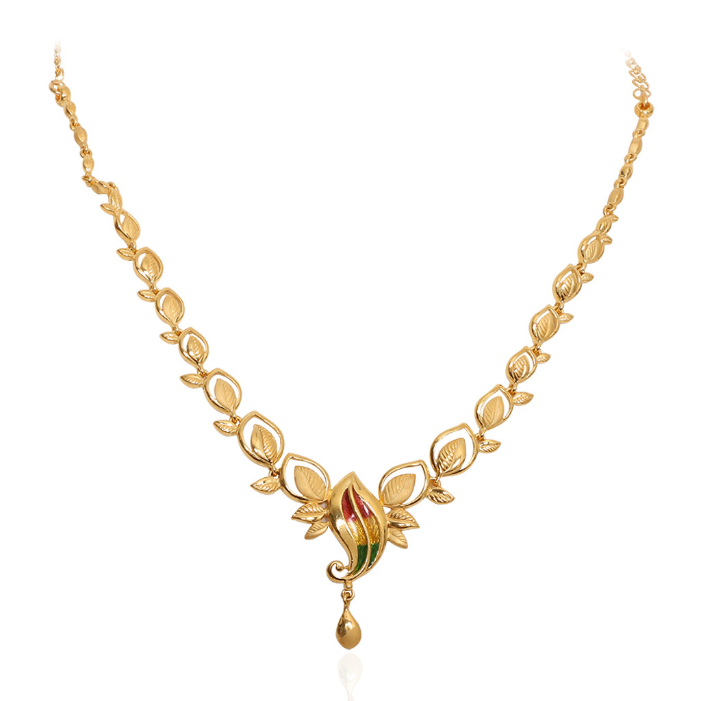9 Beautiful 25 Grams Gold Necklace Designs In India ...