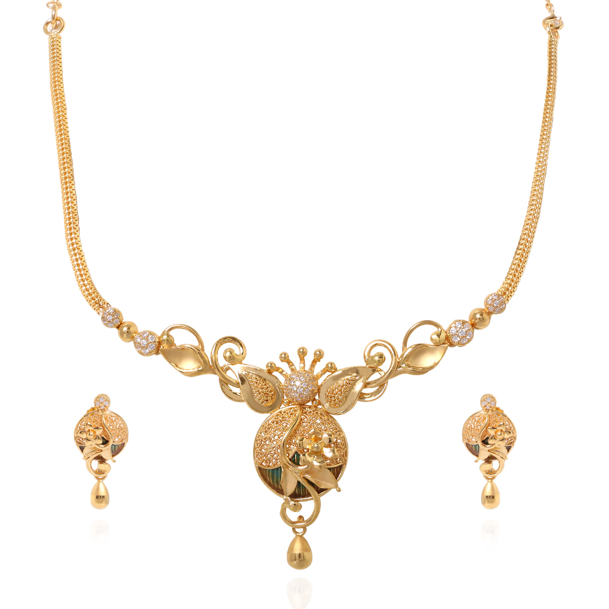 Stylish Lateef Officewear Gold Necklace